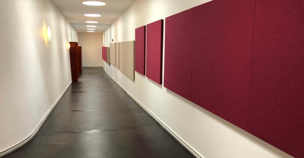 Alpha TYST - akustikløsning til væg på universitet