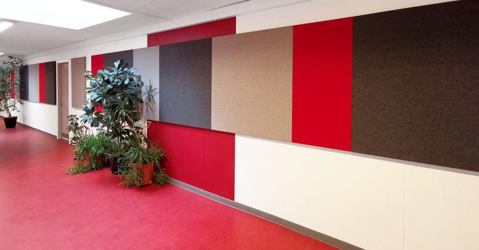 Alpha TYST - akustikløsning til væg på skole