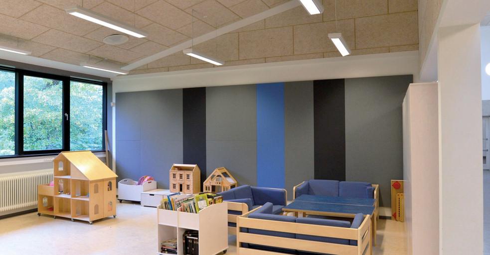 Alpha TYST - akustikløsning til væg i børnehave