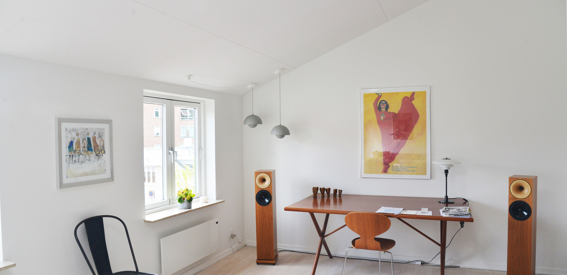Heldækkende akustikloft med ALPHA Direct