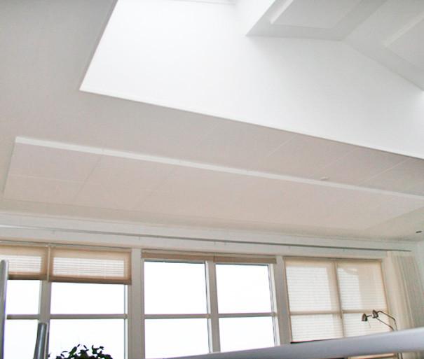 Akustik i loftet på kontor