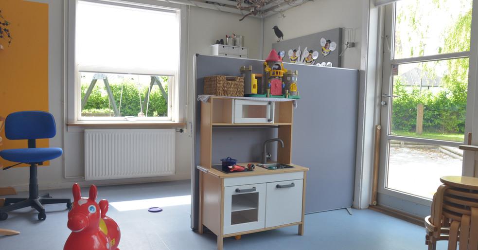 Akustisk skærmvæg i børnehave