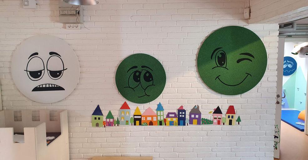 Runde Alpha TYST med tryk på til børnehave (fås også uden tryk)