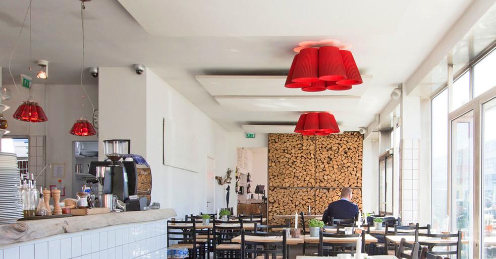 Alpha SOLO - Akustikløsning til restaurant på kontor