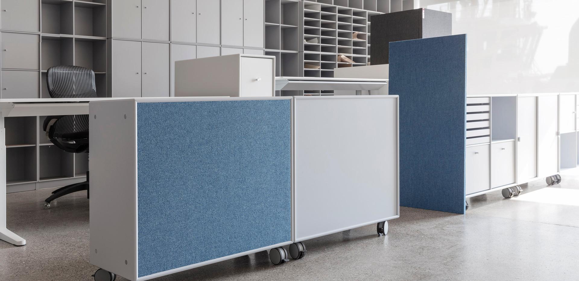 Alpha TYST - akustikløsning til væg på kontor