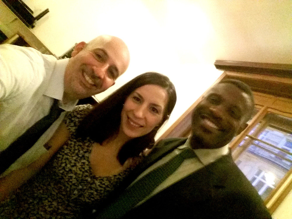 Funny backstage selfie with the pianist/composer Peter Martin and the bass player, Reginald Veal. (Foto by Petr Martin.