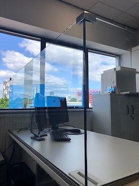 Covid-19 glass screen desk