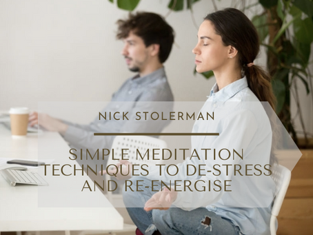 9 Simple Meditation Techniques To De-Stress And Re-Energise During Your Work Day