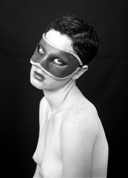 Self portrait with a mask