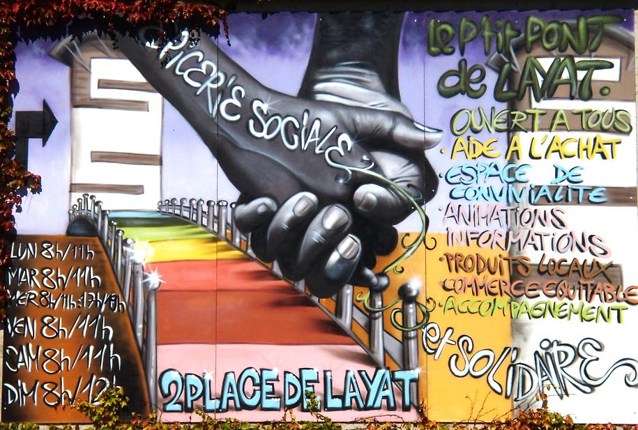 épicerie sociale et solidaire à firminy, le p'tit pont de layat