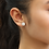 Thumbnail: Sterling Silver Diamond Simulant Studs, Round CZ Stone Halo Earrings for Women