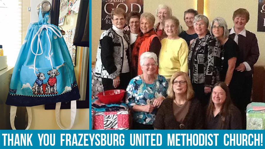 Frazeysburg United Methodist Church Outreach Ministry Makes Backpacks For Orphans