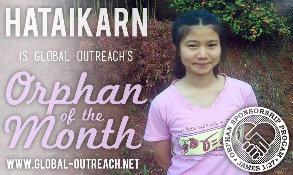 Hataikarn Is Our Orphan Of The Month