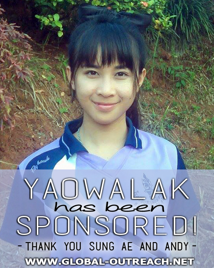 Yaowalak Has Been Sponsored By Sung Ae and Andy!
