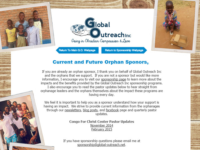 Quarterly Pastor Updates On Sponsored Orphans Are Now Available Online