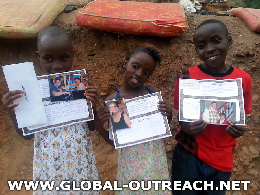 The orphans at Congo For Christ Orphanage love hearing from their sponsors!