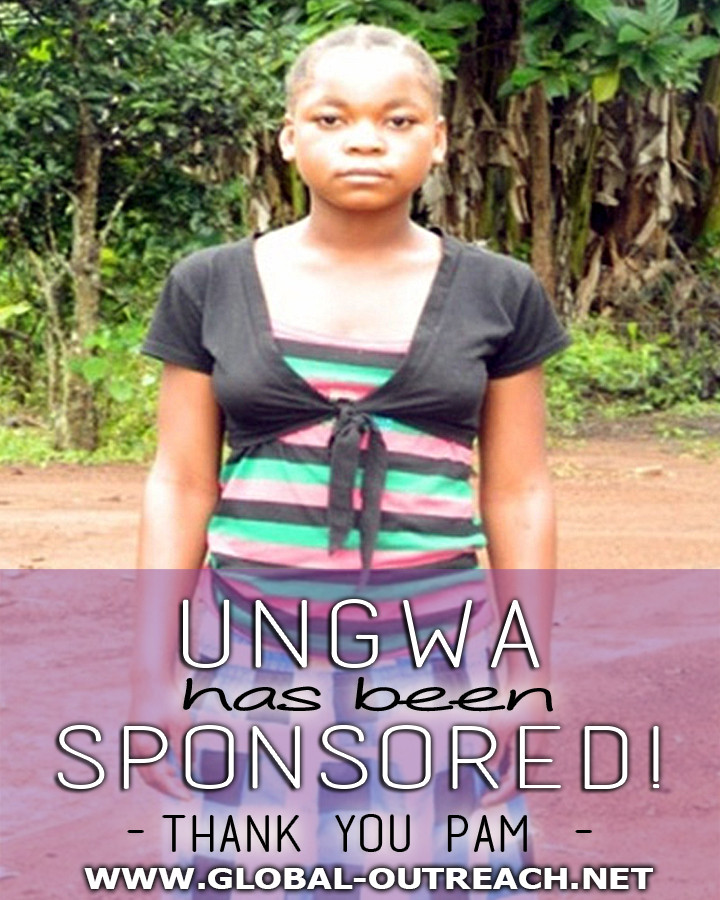 Ungwa Has Received an Educational Sponsorship From Pam!
