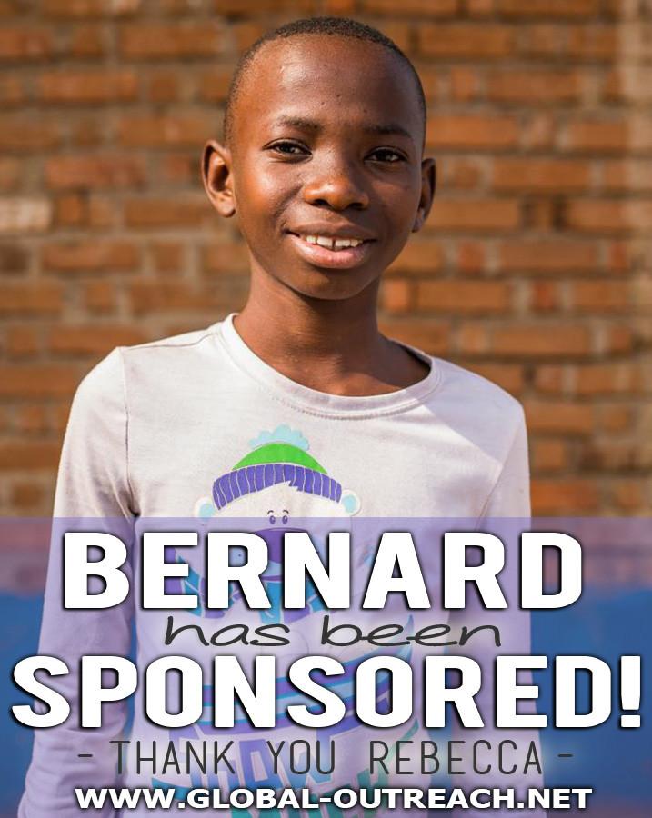 Bernard Has Been Sponsored By Rebecca!