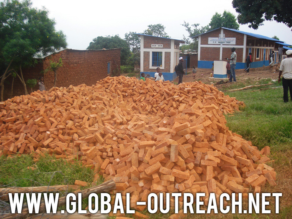 Material Has Started To Arrive For the Congo For Christ Center Security Wall