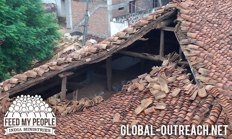 Cyclone Damages Orphanage in India