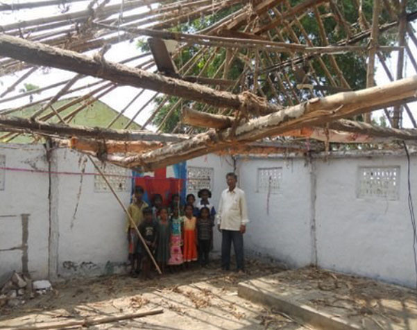 Cyclone Phailin Damages Feed My People Properties