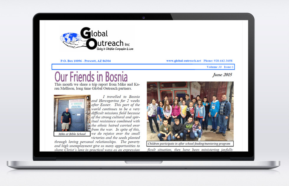 The June 2015 Global Outreach Inc Newsletter Is Now Posted Online