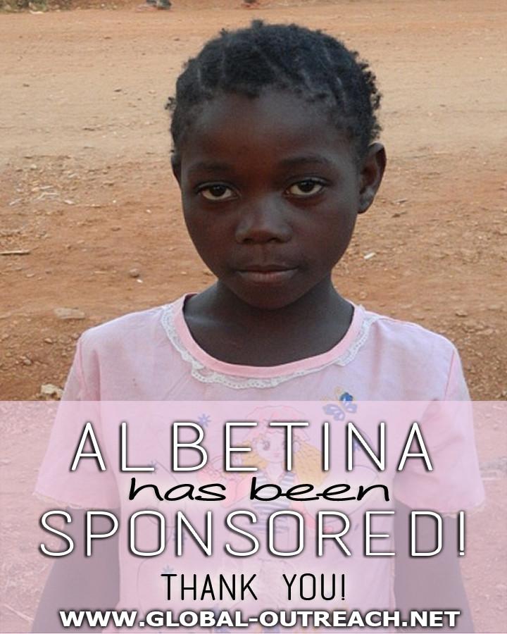 Albetina Has Received an Educational Sponsorship!