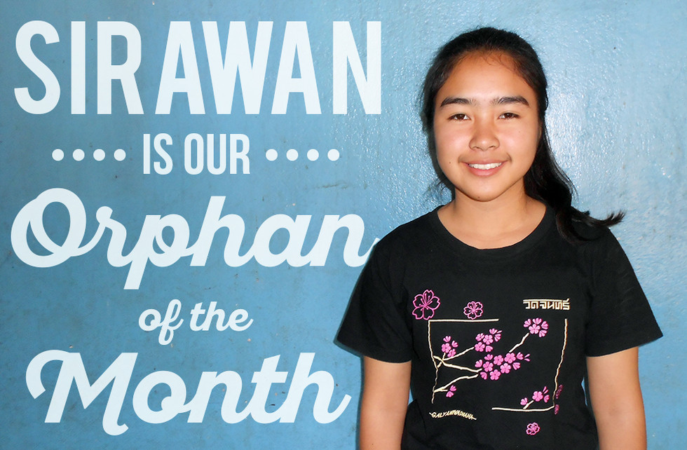 Sirawan Is Our Orphan Of The Month