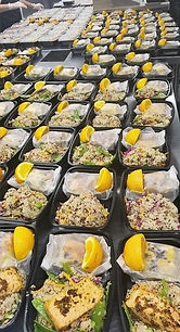 Boxed Lunch Catering, Oranges, Salmon, Quinoa Salad, Personalized Chef Catering Services, Nurse Approved Recipes