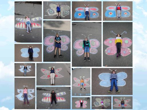 Schmetterlingsprojekt der Klasse 2a