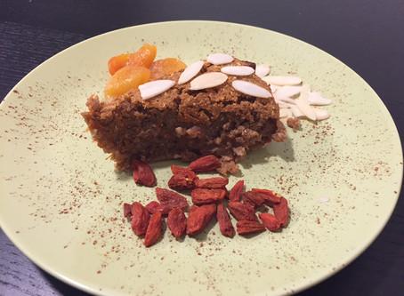 Healthy buckwheat carrot cake.
