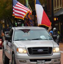 Flags unfurl