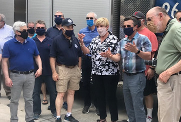 Mayor Price with Veterans