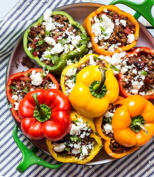 STUFFED BAKED CAPSICUMS