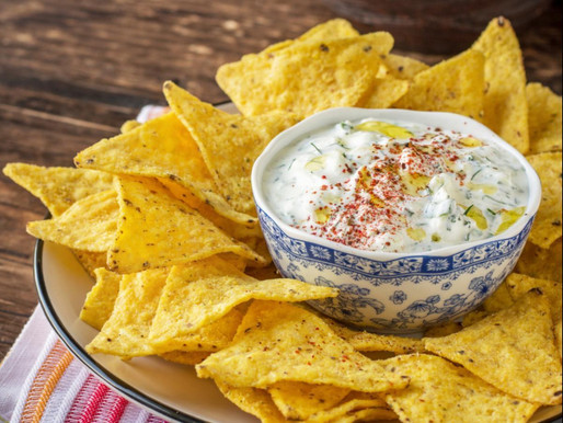 Chips with warm cheese Dip
