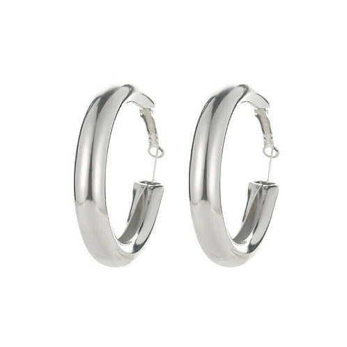 CHUNKY TUBE HOOP EARRINGS