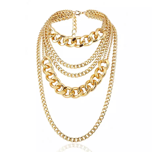 MULTI LAYER CHUNKY NECKLACE