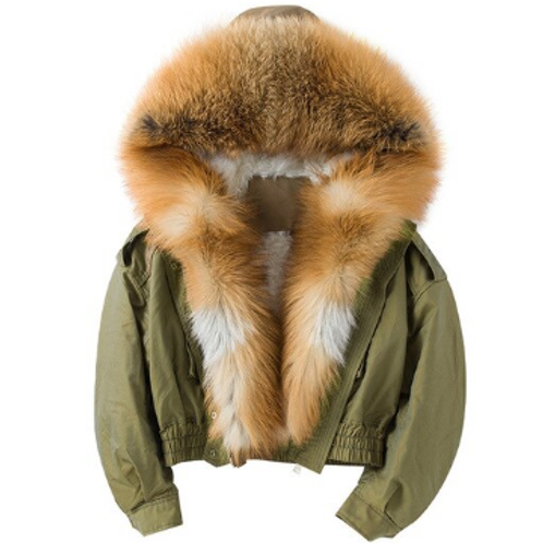 CROPPED FUR PARKA