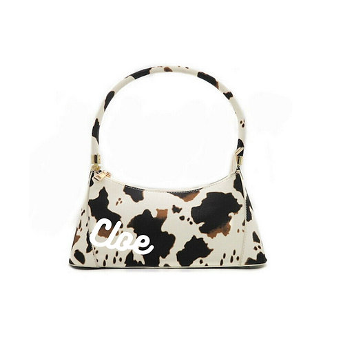FAUX COWSKIN PERSONALISED SHOULDER BAG