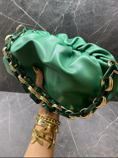 CLEO GREEN BAG CHAIN