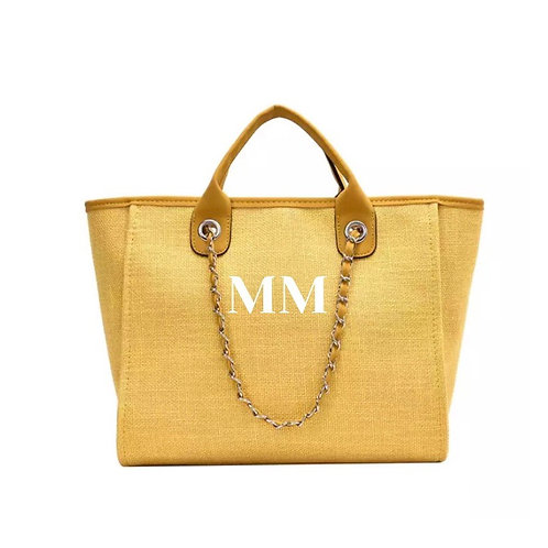 PERSONALISED SHOPPER TOTE YELLOW