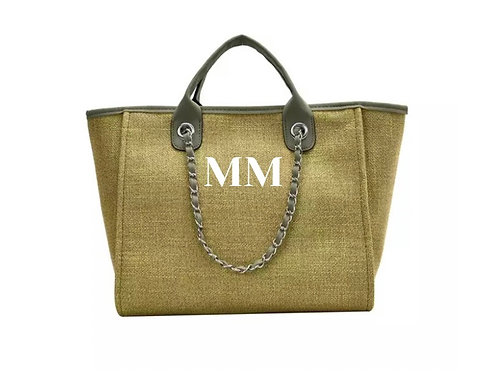 PERSONALISED SHOPPER TOTE GREEN