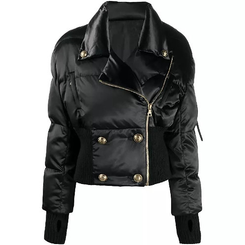 DOUBLE BREASTED BUTTON BOMBER