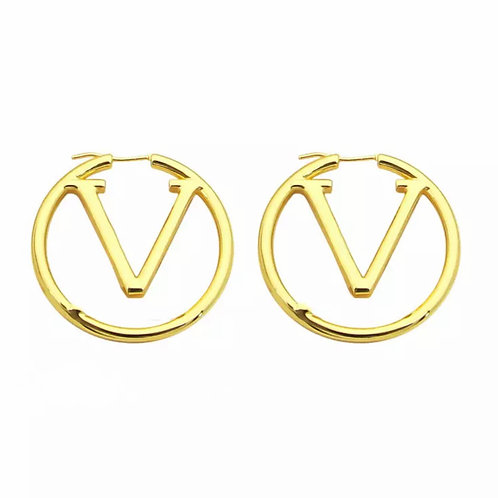 LETTER HOOP EARRINGS