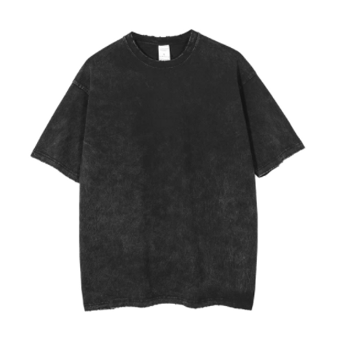 DEEP GREY SUNDAY WASHED OUT T-SHIRT