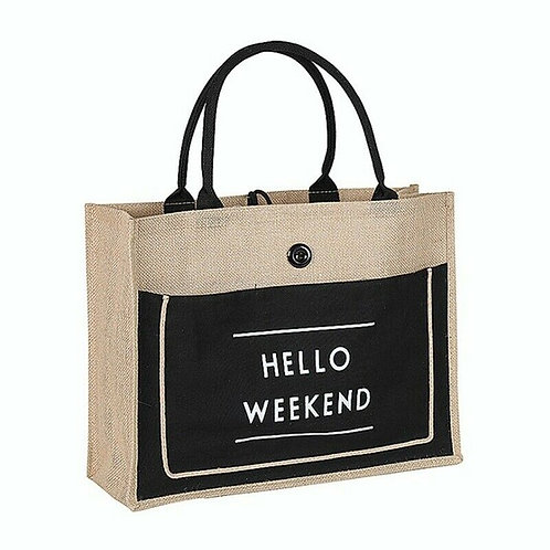 """HELLO WEEKEND"" BEACHBAG"""