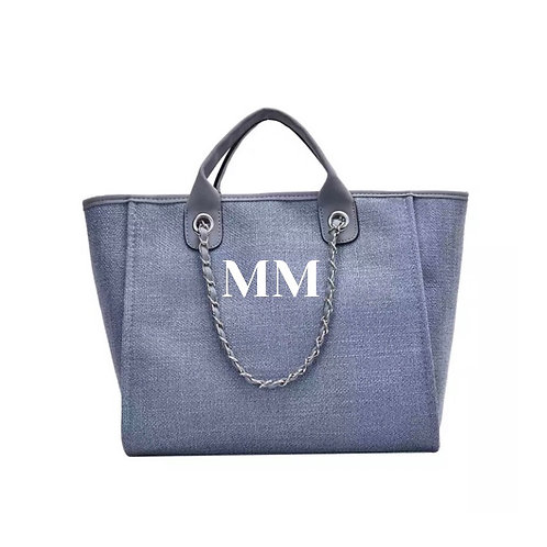 PERSONALISED SHOPPER TOTE BLUE