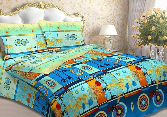 Кавасаки-голубые (полутороспальный, бязь)