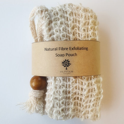 Natural Fibre Exfoliating Soap Pouch