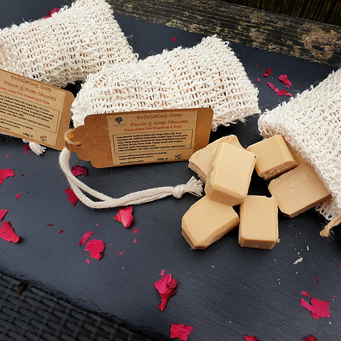 Exfoliating Soap Pouch & Soap Chunks